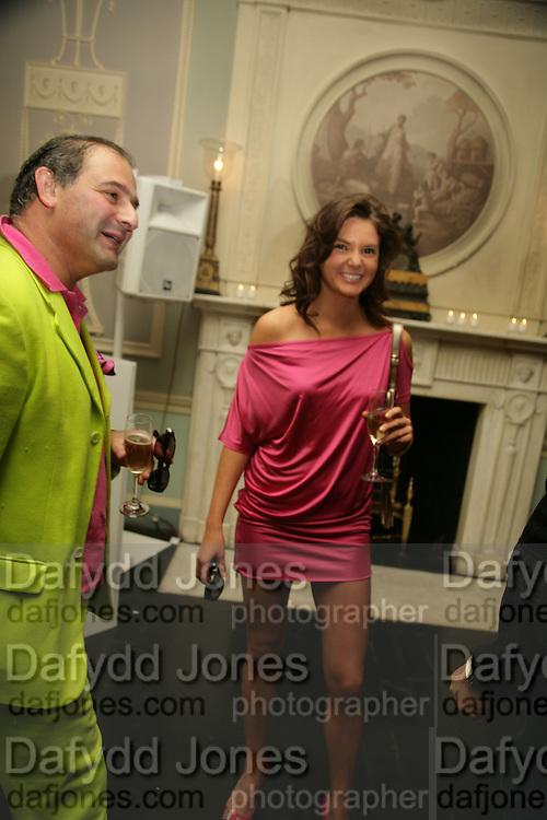 EDWARD AYDIN AND ANTALYA NALL-CAIL, Tatler Summer party. Home House. Portman Sq. London. 27 June 2007.  -DO NOT ARCHIVE-© Copyright Photograph by Dafydd Jones. 248 Clapham Rd. London SW9 0PZ. Tel 0207 820 0771. www.dafjones.com.
