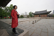 Bestselling author Kyungran Jo at Deoksugung Palace in downtown Seoul.