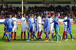 Tammy Abraham of England U21 lines up before kick off - Rogan Thomson/JMP - 11/10/2016 - FOOTBALL - Bescot Stadium - Walsall, England - England U21 v Bosnia and Herzegovina - UEFA European Under 21 Championship Qualifying.