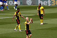 Will Hughes of Watford shows his frustration following the Leicester goal during the Premier League match at Vicarage Road, Watford. Picture date: 20th June 2020. Picture credit should read: Darren Staples/Sportimage