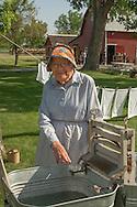 Big Horn County Historical Museum, Hardin, Montana, historic reenactment