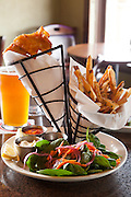 Fish and Chips and Scotch Egg with Boneyard IPA at Pig and Pound in Redmond, Oregon