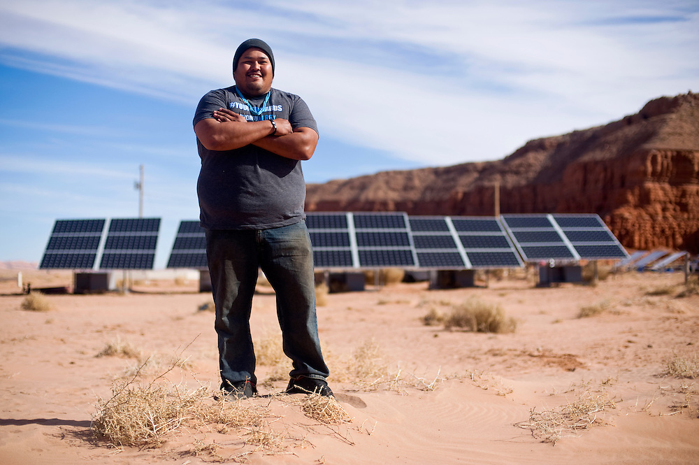 Brett Isaac is the CEO of Shonto Energy LLC, a community-owned solar company on the Navajo Nation. The company helps residents install solar panels for their home needs where traditional electric hookups are impractical.