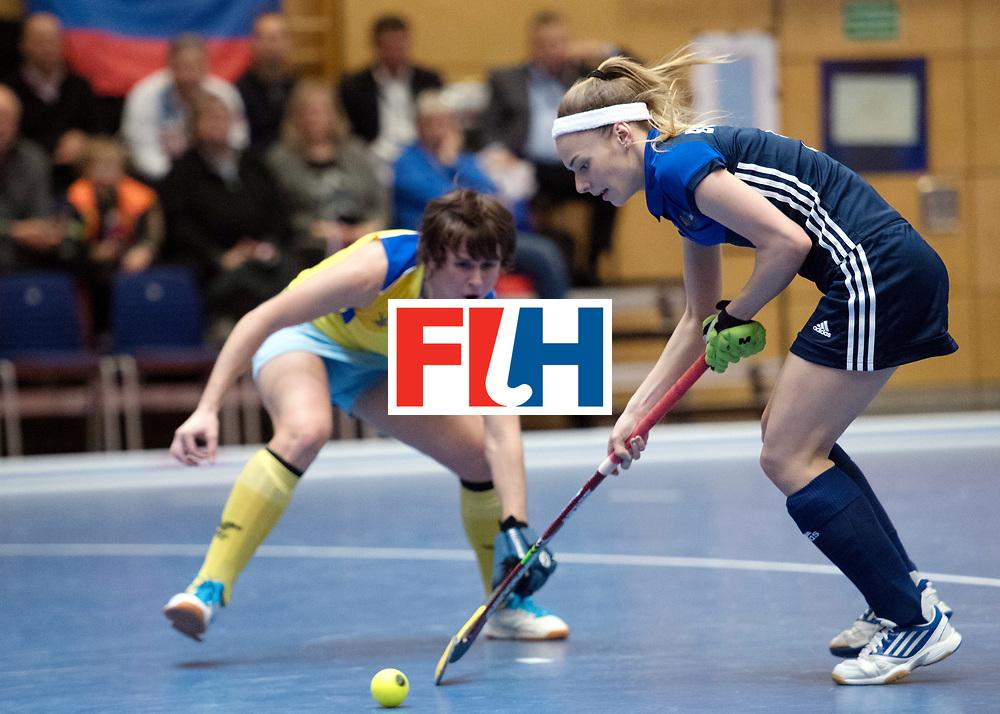 BERLIN - Indoor Hockey World Cup<br /> Kazakhstan - Russia<br /> foto: Valeriia Borisova <br /> WORLDSPORTPICS COPYRIGHT FRANK UIJLENBROEK