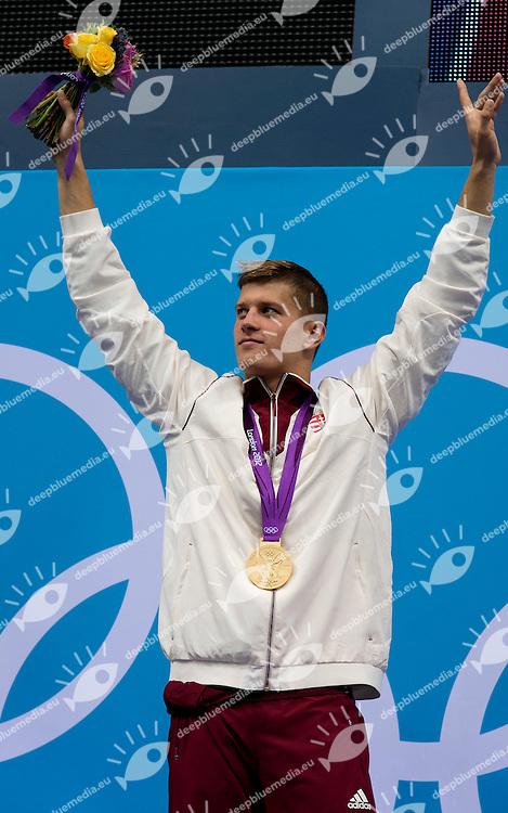 GYURTA Daniel Hungary (gold medal).men 200 Breaststroke.swimming finals.London 2012 Olympics - Olimpiadi Londra 2012.day 06 August 1.Photo G.Scala/Deepbluemedia.eu/Insidefoto