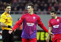 Fotball<br /> Steaua<br /> Foto: imago/Digitalsport<br /> NORWAY ONLY<br /> <br /> 21.02.2013 <br /> Bucharest (Romania) FC Steaua Bucuresti - FC Ajax Europa League men football Florin Gardos (c) FC Steaua
