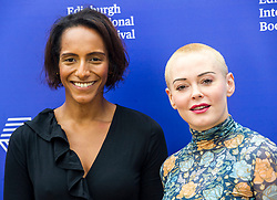 Pictured: Rose McGowan and Afua Hirsch<br /> <br /> Rose Arianna McGowan(born September 5, 1973) is an American activist, former actress, author, model, and singer.<br /> <br /> After her film debut as a brief role in the comedy Encino Man (1992), McGowan achieved wider recognition for her performance in Gregg Araki's dark comedy The Doom Generation (1995), receiving an Independent Spirit Award nomination for Best Debut Performance. She had her breakthrough in the horror film Scream (1996) and subsequently headlined the films Going All the Way (1997), Devil in the Flesh (1998) and Jawbreaker (1999). During the 2000s, McGowan became known to television audiences for her role as Paige Matthews in The WB supernatural drama series Charmed (2001–2006), and starred in Robert Rodriguez and Quentin Tarantino's double-feature film Grindhouse (2007). She made her directorial debut in the critically acclaimed short film Dawn (2014).<br /> <br /> A visible feminist activist, McGowan has released a memoir, Brave, and starred in the four-part docuseries Citizen Rose, both in 2018. She has been the cover of numerous magazines, including Seventeen, Interview, Maxim, GQ, Entertainment Weekly, and Rolling Stone. In 2017, Time recognized McGowan as one of the Silence Breakers, the magazine's Person of the Year, for speaking out about sexual assault and harassment.<br /> <br /> Afua Hirsch (born 12 June 1981) is a British writer, broadcaster, and former barrister. She has worked as a journalist for The Guardian newspaper, and was the Social Affairs and Education Editor for Sky News from 2014 until 2017.