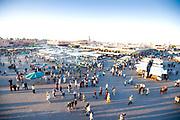 djemaa el fna in Marrakech morocco