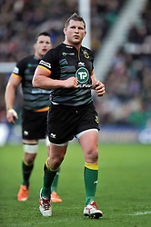 Northampton Saints captain Dylan Hartley of Northampton Saints looks on - Photo mandatory by-line: Patrick Khachfe/JMP - Mobile: 07966 386802 13/12/2014 - SPORT - RUGBY UNION - Northampton - Franklin's Gardens - Northampton Saints v Treviso - European Rugby Champions Cup