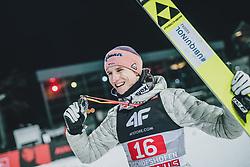 06.01.2020, Paul Außerleitner Schanze, Bischofshofen, AUT, FIS Weltcup Skisprung, Vierschanzentournee, Bischofshofen, Finale, Podium Gesamtsieg, im Bild 3. Platz Karl Geiger (GER) // 3rd placed Karl Geiger of Germany during Podium for the overall victory of the Four Hills Tournament of FIS Ski Jumping World Cup at the Paul Außerleitner Schanze in Bischofshofen, Austria on 2020/01/06. EXPA Pictures © 2020, PhotoCredit: EXPA/ JFK