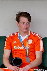 THE HAGUE - Rabobank Hockey World Cup 2014 - 15-06-2014 - MEN - FINAL AUSTRALIA - THE NETHERLANDS 6-1 - balende Seve van Ass na verlies finale.<br /> Copyright: Willem Vernes