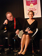 Julian Bird and Kinvara Balfour, Dazed and Abused by Kinvara Balfour, the Canal Cafe theatre. London W2. 4 October 2004. ONE TIME USE ONLY - DO NOT ARCHIVE  © Copyright Photograph by Dafydd Jones 66 Stockwell Park Rd. London SW9 0DA Tel 020 7733 0108 www.dafjones.com
