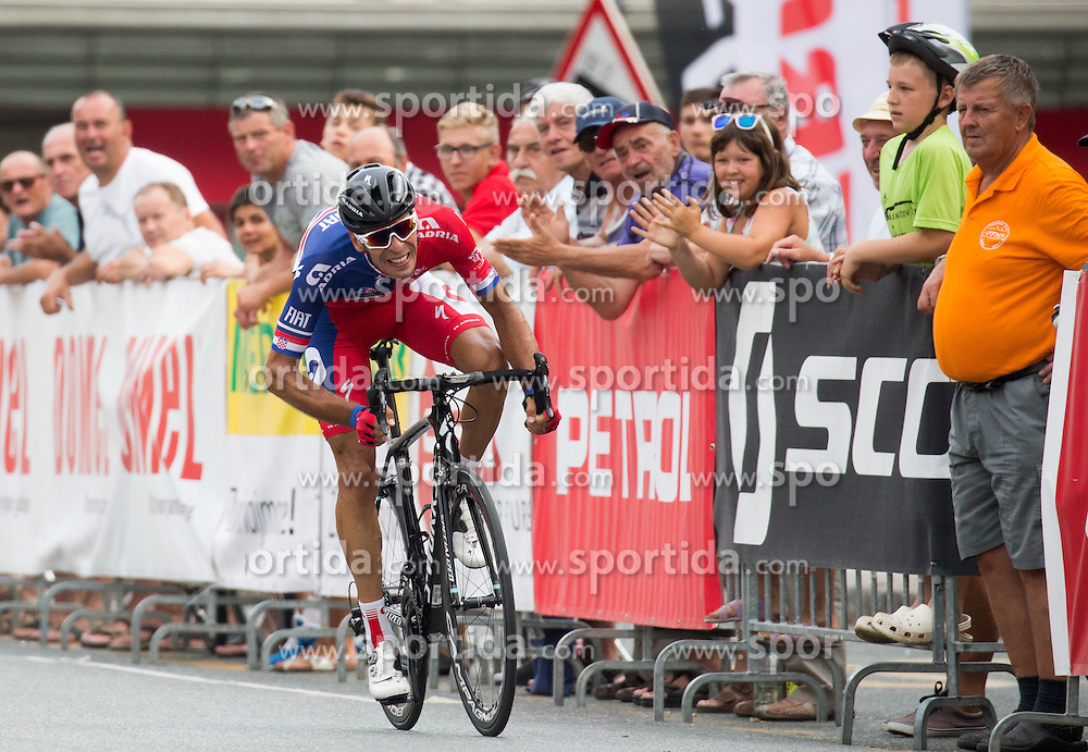 Rogina Radoslav of Adria Mobil at finish line during cycling race 48th Grand Prix of Kranj 2016 / Memorial of Filip Majcen, on July 31, 2016 in Kranj centre, Slovenia. Photo by Vid Ponikvar / Sportida