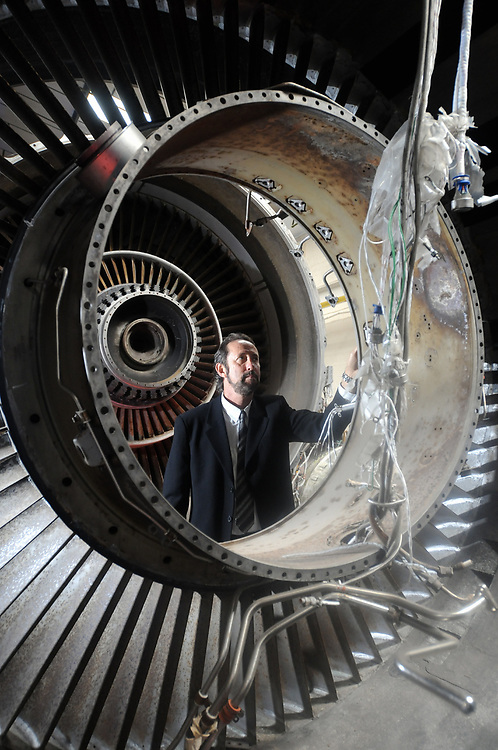 Pictured inspecting a used jet engine, ready to be recycled, is Sandy Shadrow - executive president of SOS Metals, Inc. The American based company has now officially opened one of its recycling plants in South Normanton
