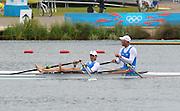 Eton Dorney, Windsor, Great Britain,..2012 London Olympic Regatta, Dorney Lake. Eton Rowing Centre, Berkshire[ Rowing]...Description;   Men's Double Sculls, Silver Medalist  ITA M2X. Alessio SARTORI (b) , Romano BATTISTI (s).   Dorney Lake. 11:58:09  Thursday  02/08/2012.  [Mandatory Credit: Peter Spurrier/Intersport Images].Dorney Lake, Eton, Great Britain...Venue, Rowing, 2012 London Olympic Regatta...