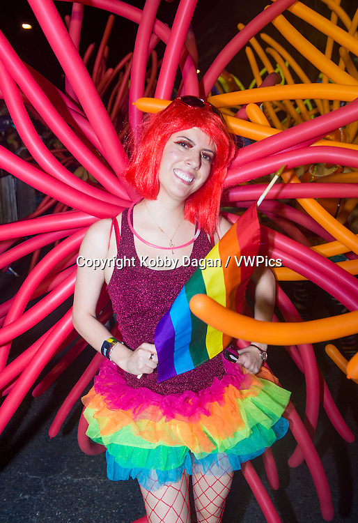participant at the annual Las Vegas Gay pride parade