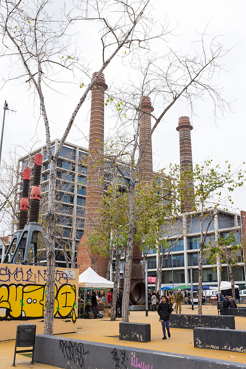Tres Xemeneies Slow Food Market, on Parallel, Barcelona 11 February 2017.