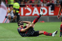 August 9, 2017 - Lisbon, Portugal - Braga's midfielder Nikola Vukcevic reacts during the Portuguese League football match SL Benfica vs SC Braga at Luz stadium in Lisbon on August 9, 2017 . Photo: Pedro Fiuza. (Credit Image: © Pedro Fiuza/NurPhoto via ZUMA Press)