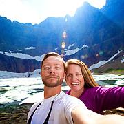 Shameless selfie at Iceburg Lake, Glacier National Park.