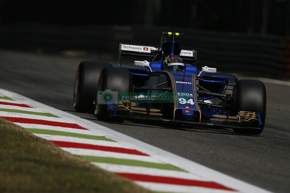 September 1, 2017 - Monza, Italy - PASCAL WEHRLEIN of Germany and Sauber F1 Team drives during practice session of the 2017 Formula 1 Italian Grand Prix in Monza, Italy. (Credit Image: © James Gasperotti via ZUMA Wire)