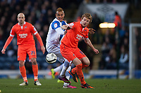 Football - 2012 / 2013 FA Cup - Sixth Round Replay - Blackburn Rovers vs. Millwall<br /> Joshua King of Blackburn Rovers and Millwall's Chris Taylor at Ewood Park