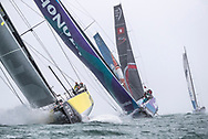 The Seven Star Triple Crown as part of Lendy Cowes week 2017. The Volvo Ocean Race VOR65 'Team Brunel' led the fleet up the Solent   <br /> Credit Lloyd Images