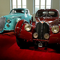1938 Bugatti Type 57SC Atlantic Coupe with 1938 Alfa Romeo 8C 2900 B Lungo Touring (left), Vienna 2007
