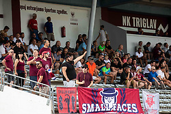 Small faces, supporters of Triglav during football match between NK Triglav and NK Celje in 7th Round of Prva liga Telekom Slovenije 2019/20, on August 25, 2019 in Sports park, Kranj, Slovenia. Photo by Vid Ponikvar / Sportida