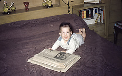 baby born 1958 at home