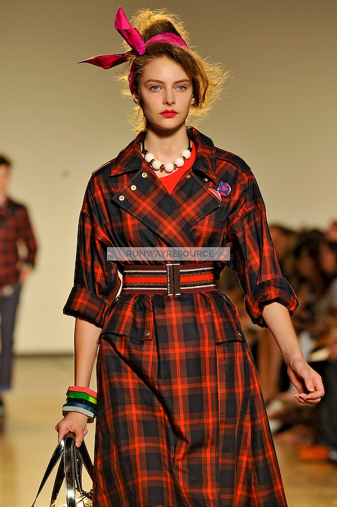 Auguste Tomasuite walks the runway wearing Marc by Marc Jacobs Spring 2010 collection during New York Mercedes-Benz fashion week on September 15, 2009.