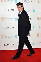 © Licensed to London News Pictures. 13/02/2016.<br /> BENICIA DEL TORO attends the BAFTA Lancôme Nominees' Party held at Kensington Palace. London, UK. Photo credit: Ray Tang/LNP