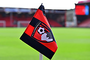 AFC Bournemouth corner flag at the Vitality Stadum before the Premier League match between Bournemouth and Manchester City at the Vitality Stadium, Bournemouth, England on 2 March 2019.