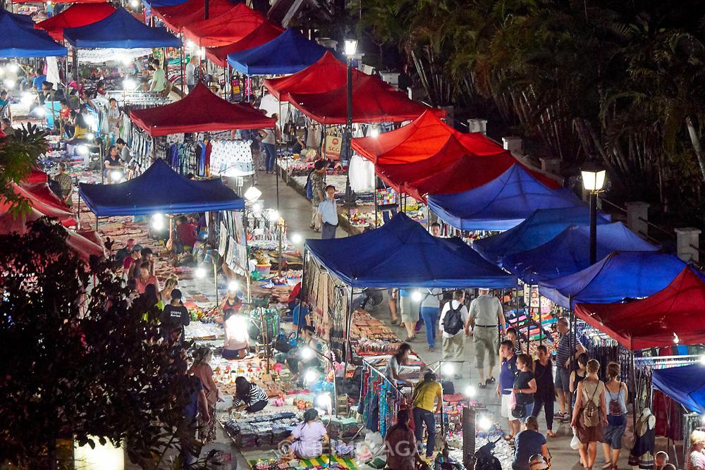 Laos, Luang Prabang. The night market.