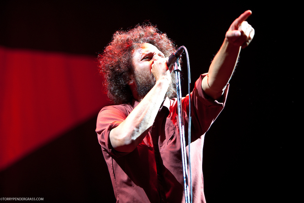 Zack de La Rocha of Rage Against the Machine performs the L.A. Rising Festival at L.A. Coliseum July 30, 2011