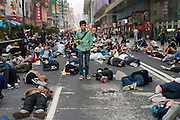 Dawn on Nathan road after a night of violent clashes between protesters and police <br /> <br /> Violent clashes in Mong Kok, Protesters form new blockades after a night of chaotic clashes with police<br /> <br /> 20th day of pro-democracy protest in Hong Kong