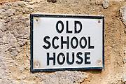 Old School House Sign nr Glendurgan