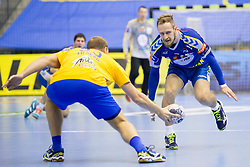 Ziga Mlakar of RK Celje Pivovarna Lasko during handball match between RK Celje Pivovarna Lasko and PGE Vive Kielce in Group Phase A+B of VELUX EHF Champions League, on September 30, 2017 in Arena Zlatorog, Celje, Slovenia. Photo by Urban Urbanc / Sportida