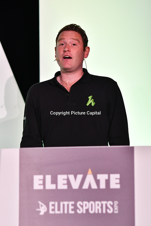Speaker Lawrence King, Head of Commercial Partnerships, Hussle at Elevate 2019 on 8 May 2019, at Excel London, UK.