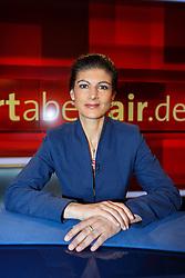 "21.03.2016, WDR Studio B, Koeln, GER, Das Erste TV Talkshow, Hart aber Fair, Zocker belohnen, Sparer bestrafen, Zinspolitik gegen die Buerger, im Bild Sahra Wagenknecht (Fraktionschefin ""Die Linke"") // during the german TV Talkshow Hart aber Fair, ""Gamblers reward, punish savers? Interest rate policy against the citizens"" at the WDR Studio B in Cologne, Germany on 2016/03/21. EXPA Pictures © 2016, PhotoCredit: EXPA/ Eibner-Pressefoto/ Schueler<br /> <br /> *****ATTENTION - OUT of GER*****"