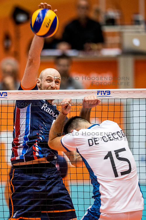 06-09-2018 NED: Netherlands - Argentina, Doetinchem<br /> First match of Gelderland Cup / Jasper Diefenbach #6 of Netherlands, Luciano De Secco #15 of Argentina