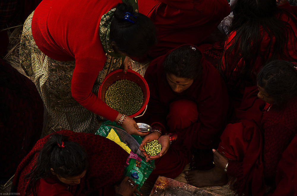 — Many Hindu men and women visit the pilgrims in Sankhu at least once during the festival, demonstrating their support by offering them gifts of food or money.