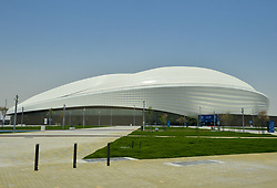 General view outside the Al Wakrah FIFA World Cup 2022 Stadium before an inauguration ceremony at Al Wakrah in Doha, Capital of Qatar on16 May 2019. The stadium will be a venue for the upcoming Qatar FIFA World Cup 2022 the boasts a retractable roof and an innovative cooling operation, equipping it for all year use. (Credit Image: © Yangyuanyong/Xinhua via ZUMA Wire)