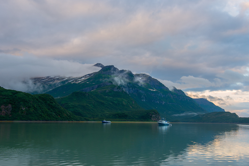 Geographic Harbor in Katmai 10:30pm