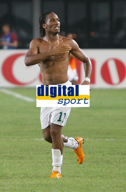 Photo: Steve Bond/Richard Lane Photography.<br />Nigeria v Ivory Coast. Africa Cup of Nations. 21/01/2008. Didier Drogba celebrates Ivory Coast's win