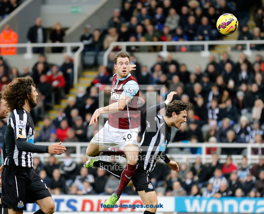 Ashley Barnes (c) of Burnley heads towards goal during the Barclays Premier League match at St. James's Park, Newcastle<br /> Picture by Simon Moore/Focus Images Ltd 07807 671782<br /> 01/01/2015