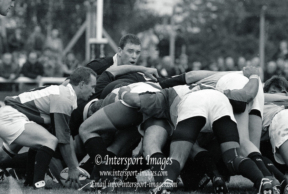 Twickenham, GREAT BRITAIN,      No. 8 Dean RYAN at the back of the scrum, during the premiership match, Harlequins vs London Wasps, played at The Stoop Memorial Ground. 10.1994..[Mandatory Credit; Peter Spurrier/Intersport-images]