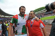 Rugby: Biarritz / Munster - 1/2Finale H Cup - 02.05.2010 - Joie des Joueurs Biarrots en fin de match - Dal Maso