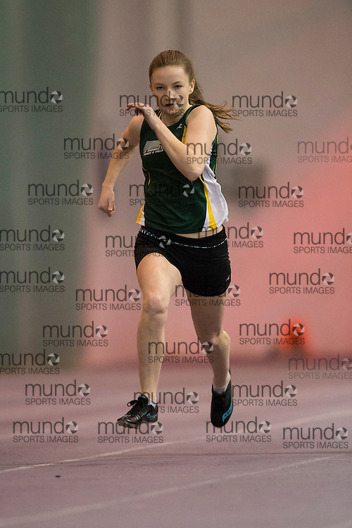 Cassidy Kent of St. Thomas Legion TFC competes at the STL-LW All Comers Meet # 2 in London, Ontario, Saturday, January 24, 2015.<br /> Mundo Sport Images/ Geoff Robins