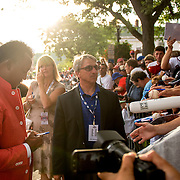 July 25, 2015, Cooperstown, NY:<br /> Class of 2015 Hall of Fame inductee Pedro Martinez signs autographs during the Hall of Famers parade during the 2015 Hall of Fame weekend at the National Baseball Hall of Fame in Cooperstown, New York Saturday, July 25, 2015.<br /> (Photos by Billie Weiss/Boston Red Sox)