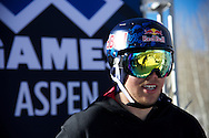 PK Hunder during Men's Ski Slopestyle Practice at the 2013 X Games Aspen at Buttermilk Mountain in Aspen, CO.  Brett Wilhelm/ESPN
